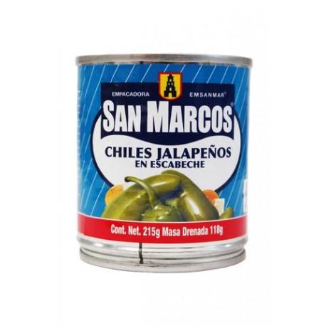 CAJA CHILES JALAPEÑOS SAN MARCOS DE 215 GRS CON 24 LATAS - SAN MARCOS - Envío Gratuito